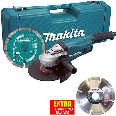 Makita GA9020KD 9in/230mm Angle Grinder 110V With Case + Extra 1 Daimond Blade