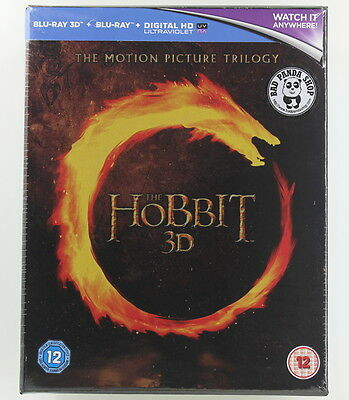 The Hobbit The Motion Picture Trilogy (2D + 3D) 3 Film Collection Blu-Ray Boxset