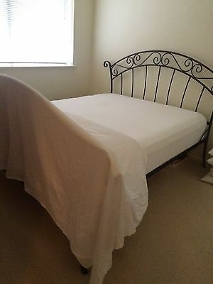 Wrought Cast Iron Queen Size Bed