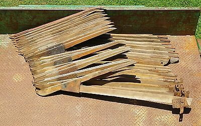 Wooden Crop Lifters ( For Header / 1950's ).Total Of 19.