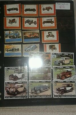 Middle East stamps thematic cars