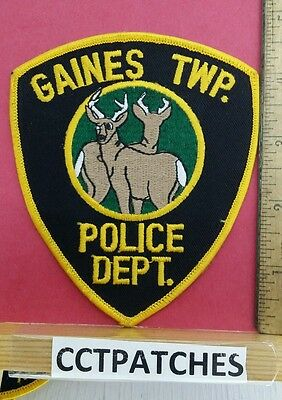 Rare Gaines Township, Pennsylvania Police Shoulder Patch Pa