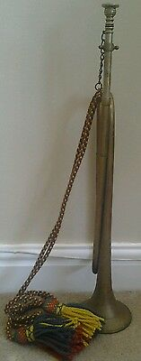 Vintage-Collectable B.b.i.m Ltd Makers Manchester 1972 Brass Bugle With Lanyard