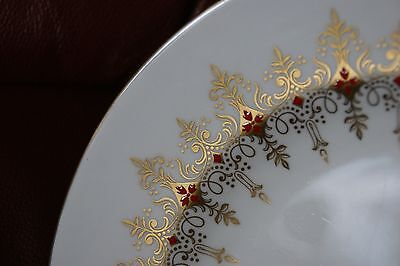 Royal Crown Derby cake stand plate in red and gold