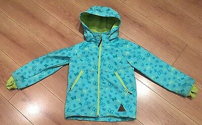 Girls H&M Sport Green fleece lined soft shell warm jacket Age 7-8 Years