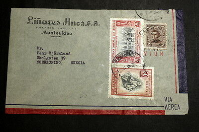 Uruguay cover to Sweden