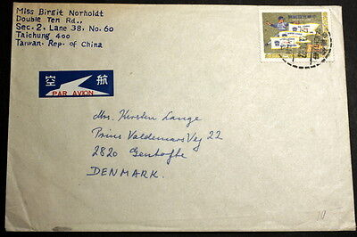 Taiwan cover to Denmark