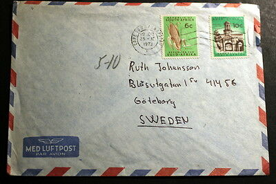 South-Africa 1973 cover to Sweden