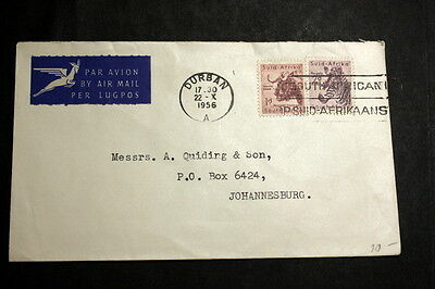 South-Afirca 1956 cover to Sweden