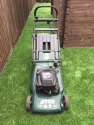 ATCO VISCOUNT 19E Petrol Lawnmower, Electric Start With Rear Roller