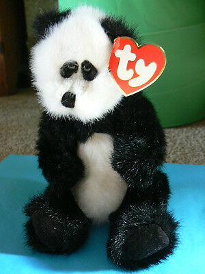 TY Beanies The Attic Treasures Collection. Checkers The Panda Bear With Tags