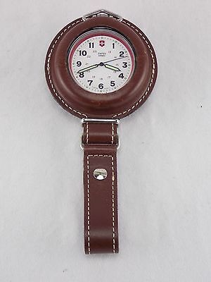 Victorinox Swiss Army Pocket Watch 24721 With Leather Belt Pouch And Strap
