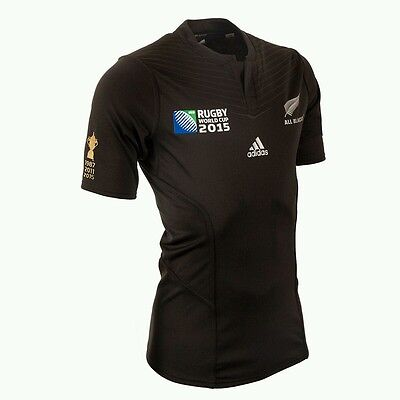 Bnwt New Zealand All Blacks Rwc2015 Winners Performance Rugby Jersey Size Large