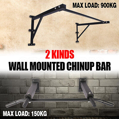 Fitness Functional Pull Up Chin Up Bar Rack Strength Wall Mounted Training AU