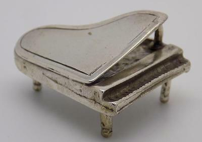 Vintage Solid Silver Piano Miniature - Dollhouse - Stamped - Made in Italy