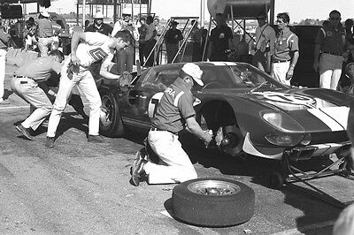 Ford GT40 - first race win 1965 - Miles & Ruby - Daytona - photograph pit stop