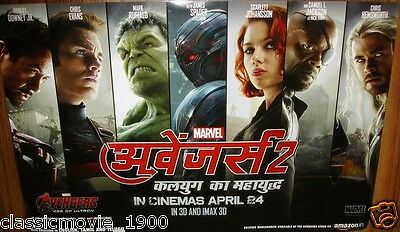 AVENGERS: AGE OF ULTRON (2015) Robert Downey Jr ORIGINAL LOBBY CARDS INDIA HINDI