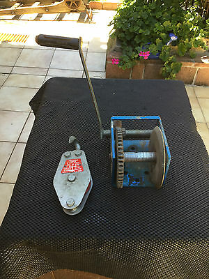 Hand Boat Triler Winch And 1 Enchor Single Sheave  3""