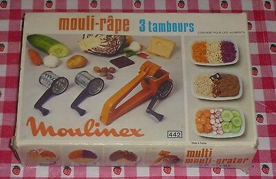 Vintage Moulinex Mouli Grater 3 Ralladores Drums Tambours Made France With Box