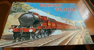 Lovely Tin 16 x 12 Inch Hornby Trains Sign