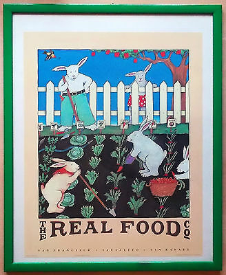 Poster THE REAL FOOD COMPANY San Francisco, Nancy Carlson 1984