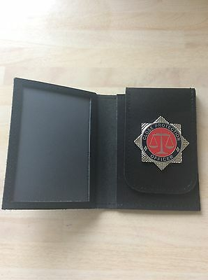 Warrant Card Holder / Wallet with Close Protection Officer Badge
