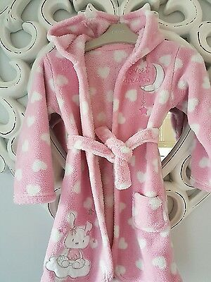 Girls dressing gown age 18-24 months size come up quite big , pink 2-3 years