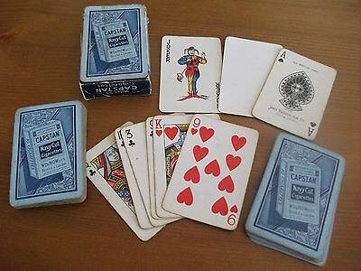 Vintage Wills Capstan Cigarette Playing Cards, Navy Cut – Complete