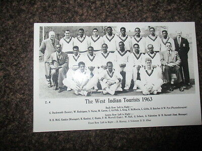 The West Indies tourists cricket team 1963  real photo postcard