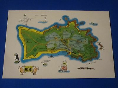 Postcard: Map Of The Island Of Herm