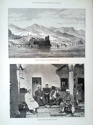 1895 Print Trebizond Scene Of The Armenian Massacre-Types Of Softas-Kiamil Pasha