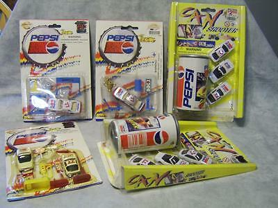 V11 Pepsi Racing Team Cars & Can Shooters Gas Station Pit Crew Lot of 5