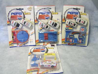 V21 Lot 4 Pepsi Team Golden Wheels Cars with Accessories NIP DieCast Collectible