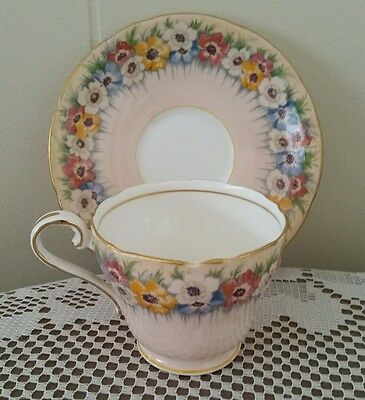 Aynsley Bone China Cup and Saucer England Pattern No B5130/3
