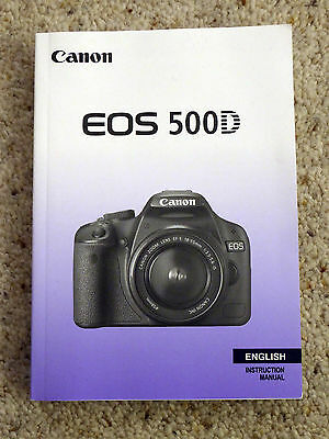 Canon EOS 500D Instruction Manual User Guide - English