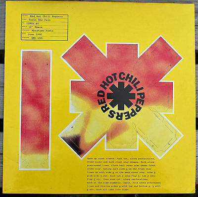 """RED HOT CHILI PEPPERS Taste The Pain UK 12"""" CUT-OUT SLEEVE NMint!! 12MTX85 1990"""