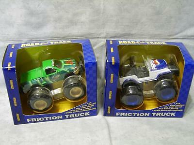V46 Lot 2 Pepsi & Mountain Dew Friction Trucks Jeep Road & Track NIB Collectible