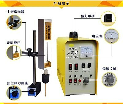 magnetic portable spark erosion machine for broken tap and screw machine