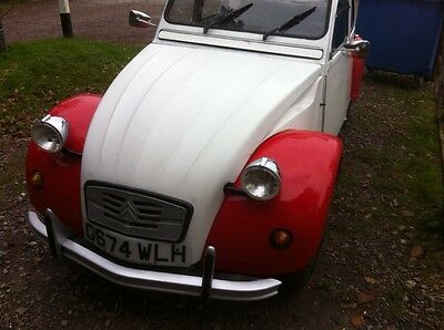 citroen 2cv dolly with new galvanised chassis and new bulk head