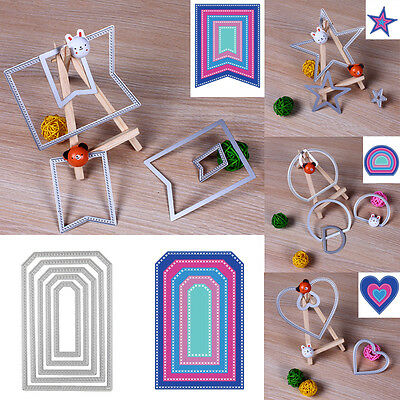 Metal Geometry Cutting Dies Stencil Scrapbooking Embossing Paper DIY Card Decor^