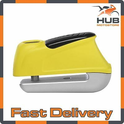 Abus Trigger 350 Motorcycle Motorbike Scooter Security Disc Lock Alarm - Yellow