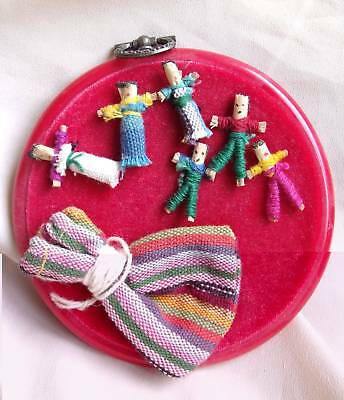 Set Of Cute Guatemalan Worry People In Pouch For New Age / Self Help