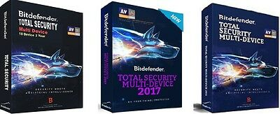 Bitdefender Total Security Multi-Device 10 Device 3 Year 2017 - License Key ONLY