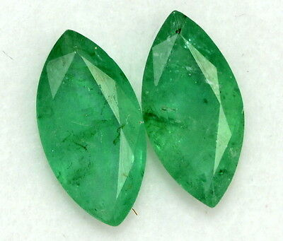 Certified Natural Emerald Marquise Cut Pair 10*5 mm 1.95 Cts Loose Gemstones