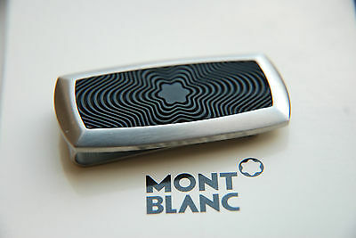 Montblanc Money Clip Stainless Steel And Inlay Rubber Brand New