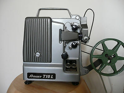 Vintage Film Projector Bauer T10L Made in Germany 8mm