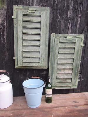 Vintage Wooden French Shutters Window Shutters Free Postage  Rustic Original