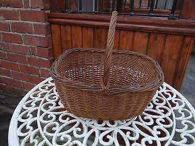 Vintage Wicker Basket with Handle