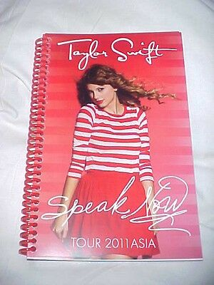 """Taylor Swift 2011 """"Speak Now Tour"""" Asia Itinerary 19 pgs ~Rare~"""
