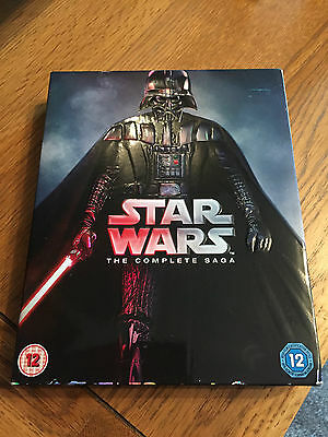 STAR WARS THE COMPLETE SAGA *6 FILM BOX SET* (BLU-RAY) NEW but not sealed
